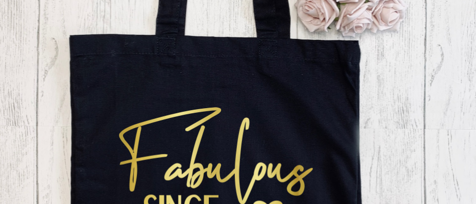 Personalised Fabulous Since Age Birthday Canvas Classic Shopper