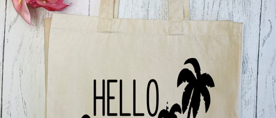 Hello Summer Canvas Classic Shopper
