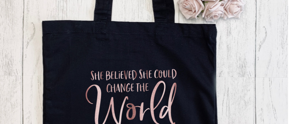 Believed She Could Change The World Teacher Canvas Classic Shopper