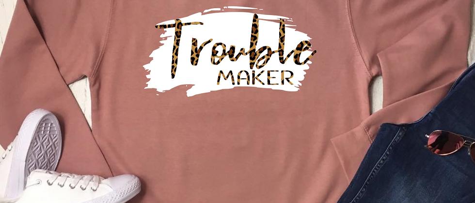 Trouble Maker Brush Stroke Sweatshirt
