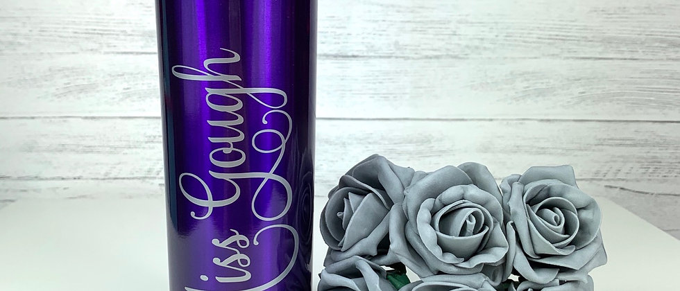 Personalised Double Wall Skinny Tumbler With Straw