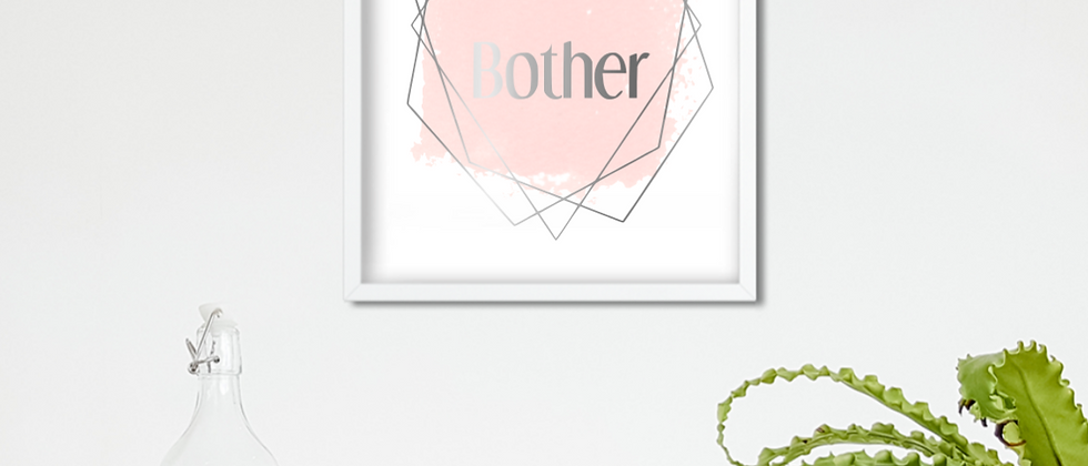 Nae Bother Scottish Foil Print