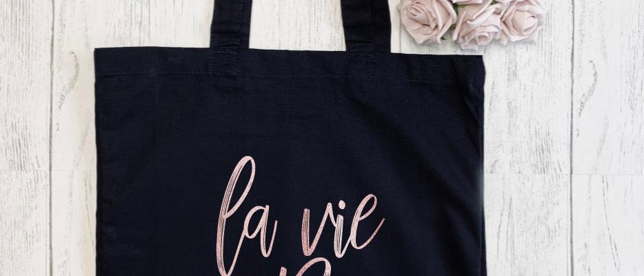 La Vie En Rose Canvas Classic Shopper
