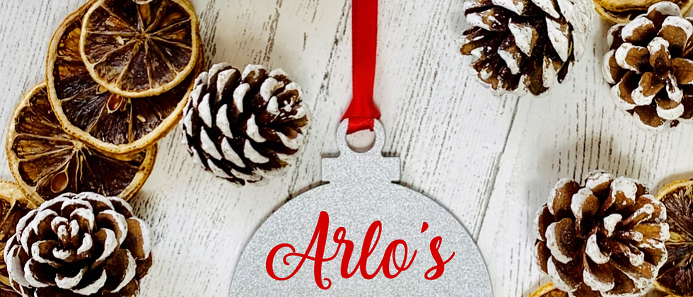 Personalised First Christmas Acrylic Bauble
