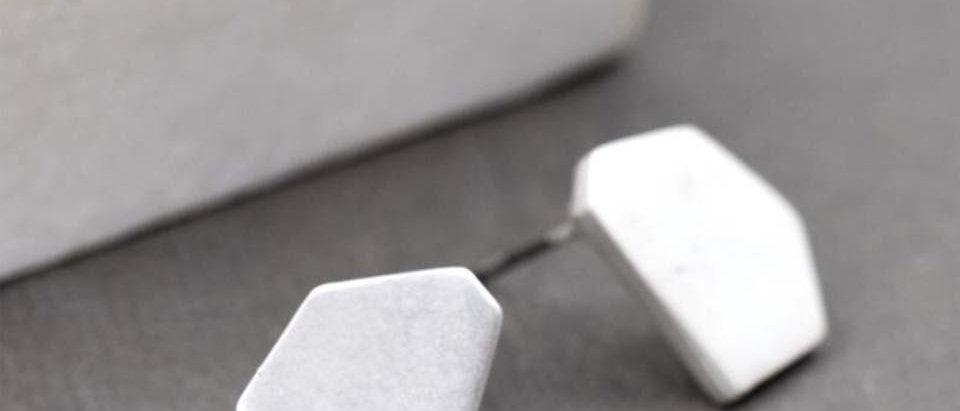 Hexagon Shaped Stud Earrings