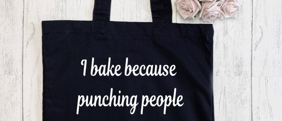 I Bake Because Canvas Classic Shopper