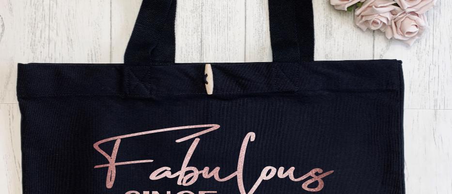 Personalised Fabulous at Birthday Organic Marina Tote