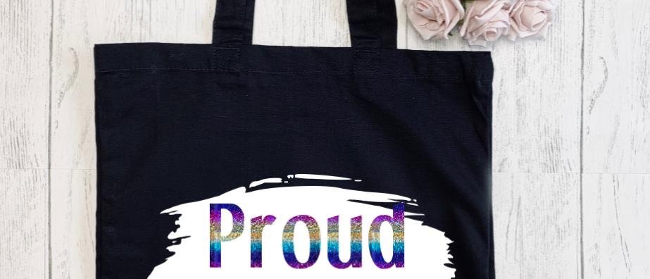 Brush Stroke Proud LGBTQ Canvas Classic Shopper