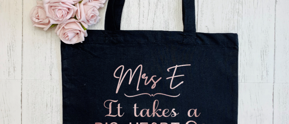 """Personalised Big Heart Teacher """"Bag For Life"""" Tote"""