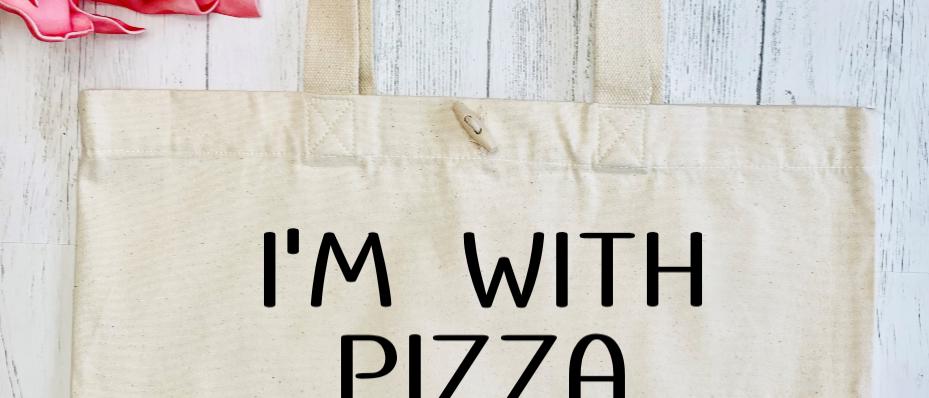 I'm With Pizza Organic Marina Tote