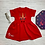 Thumbnail: Personalised Unicorn Reindeer Christmas Red Fleece Dress