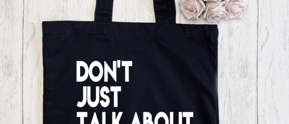 Don't Just Talk About It Squat Exercise Gym Fitness Canvas Classic Shopper