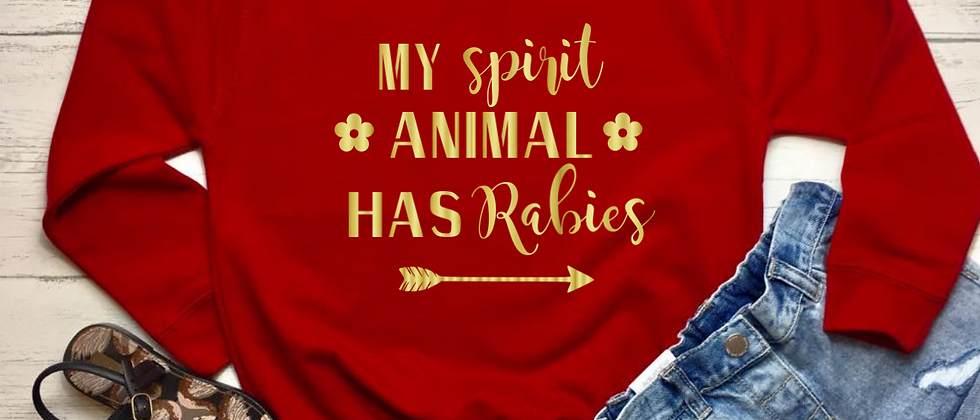 My Spirit Animal Has Rabies Kids' Sweatshirt