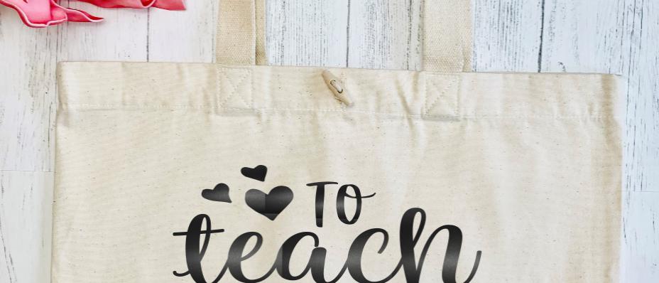 To Teach Is To Love Organic Marina Tote