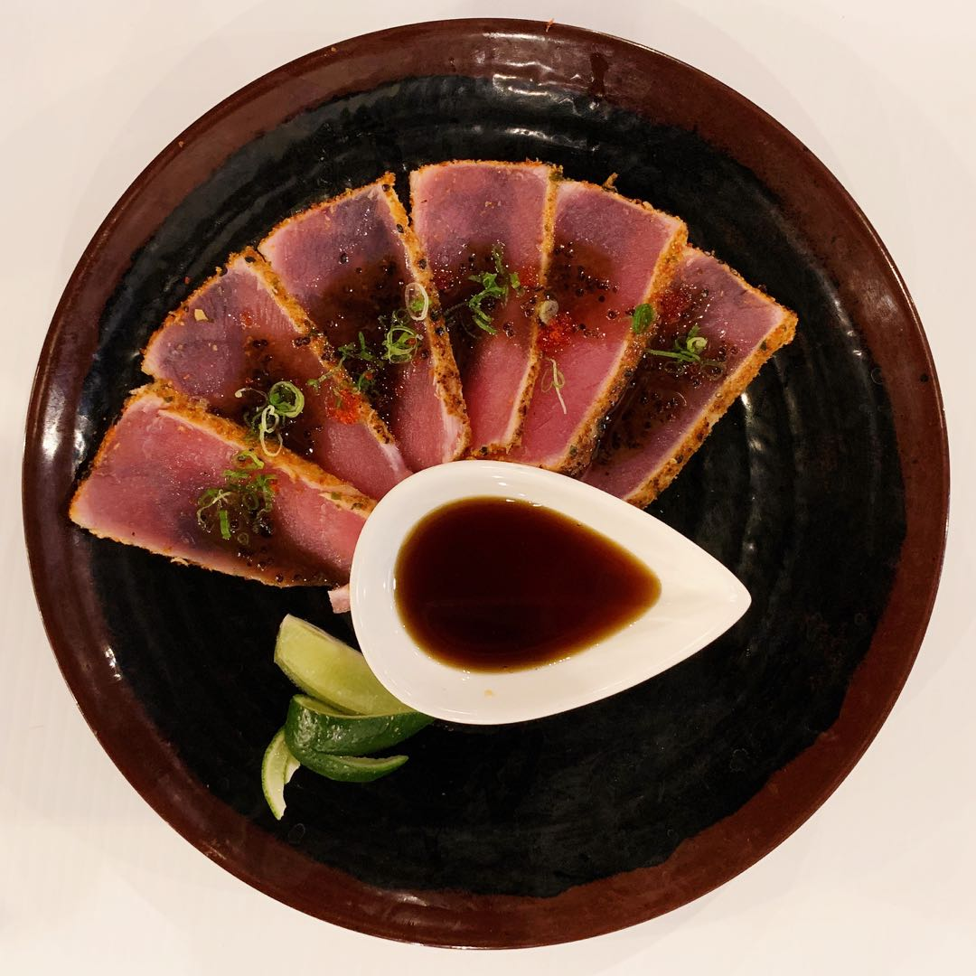 seared tuna shashimi
