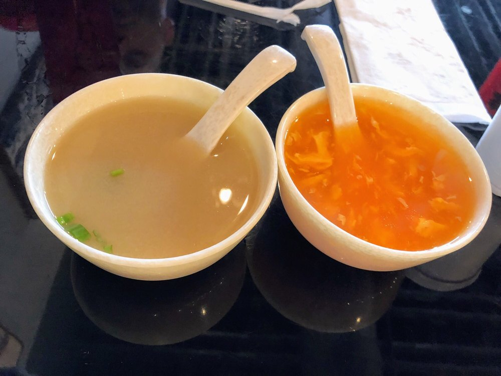 egg drop soup and miso soup