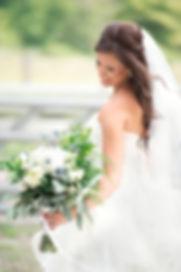 Bridal Portrait with boquet