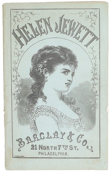 An illustrated chapbook on the murder of prostitute Helen Jewett, ca. 1878