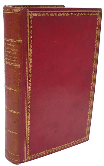 Lovely binding from the library ofJan Willem Six van Vromade