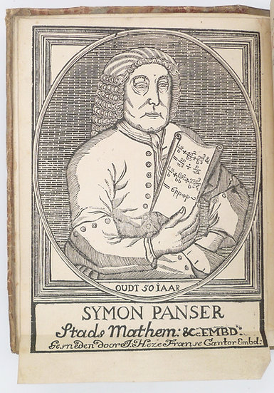 First edition of a rare Dutch algebra textbook, with a frontispiece portrait