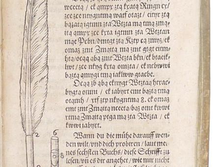 Illustrated description of a fountain pen, ca. 1620