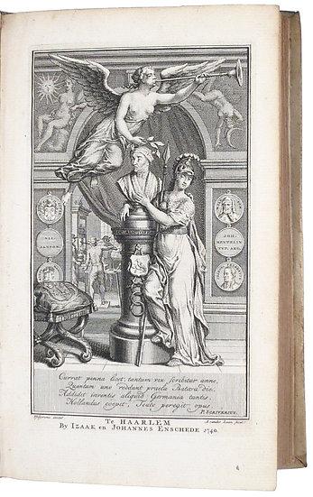 Joannes Christianus Seitz.Het derde jubeljaar der uitgevondene boekdrukkonst, 1740, frontispiece