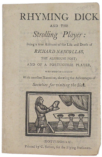 Rhyming Dick and the Strolling Player: a lovely chapbook, ca. 1805