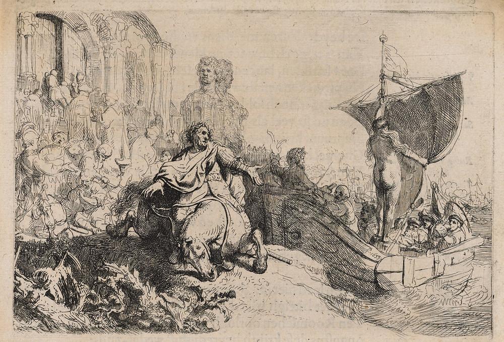 Herckmans, Der Zee-vaert Lof (Amsterdam, 1634). Geïllustreerd met een ets van Rembrandt. In 2012 werd een exemplaar geveild voor € 7400.