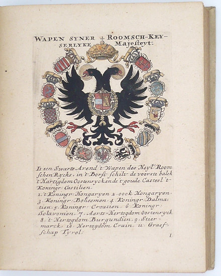 Coats-of-arms of monarchs, noblemen and clergy, 70 plates