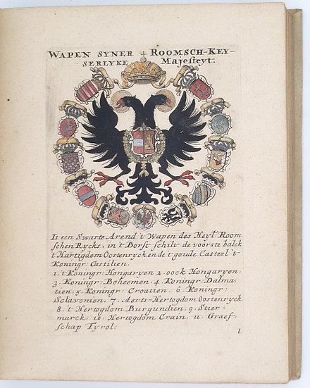 Waapen[en] der Monnarche Koningen en van alle Gekroonde Hoofden van Europa