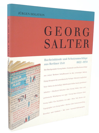 Monograph on Georg Salter, master designer of dust jackets and bindings