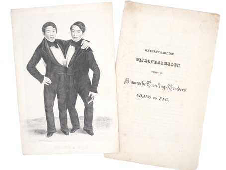 Dutch pitch book of Siamese twins Chang & Eng
