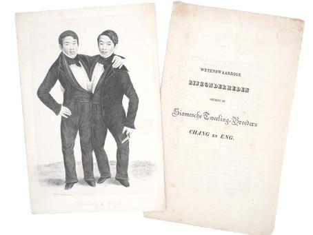 Dutch pitch book of Siamese twins Chang & Eng