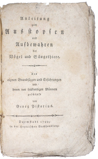 Detailed German manual on taxidermy, 1799