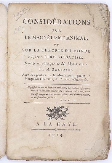 Bergasse, Considérations sur le magnétisme animal, 1784.