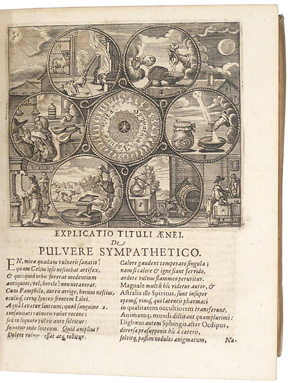 A 1662 collection of works on 'powder of sympathy'