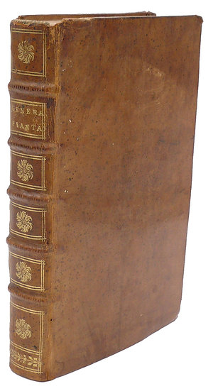 Lovely copy of Linnaeus's Genera plantarum, with 2 plates and a table
