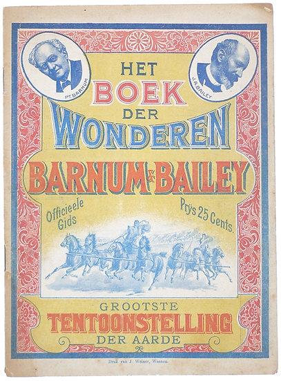 Het Boek der Wonderen in Barnum en Bailey's grootste Bezienswaardigheid op Aarde, 1901