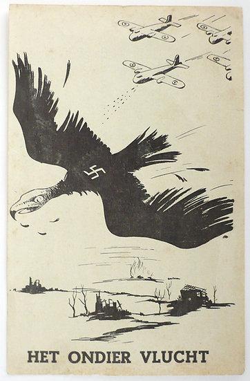 Rare Dutch handbill distributed illegally by Vrij Nederland in 1944