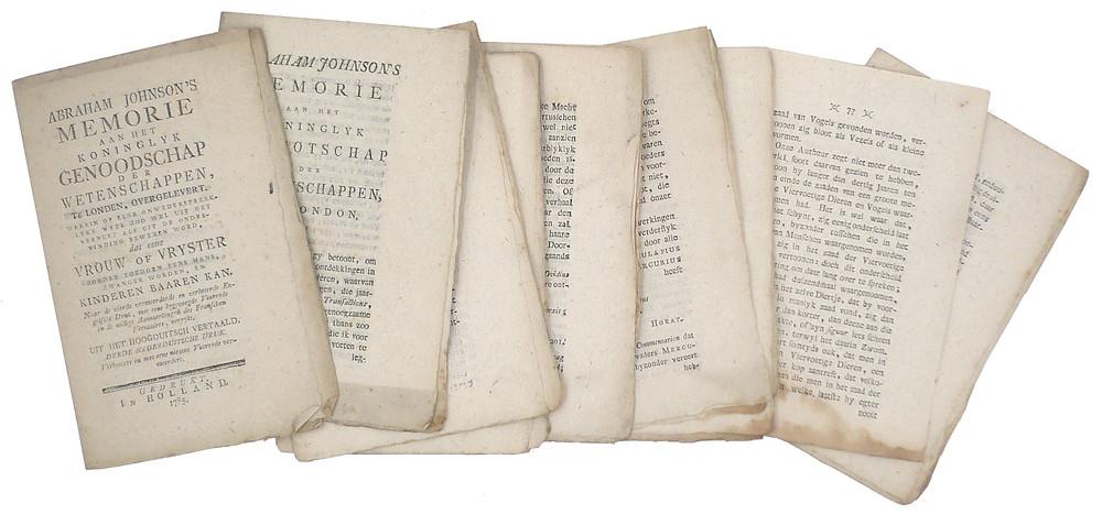 Memorie aan het koninglyk genoodschap der wetenschappen te London, 1785