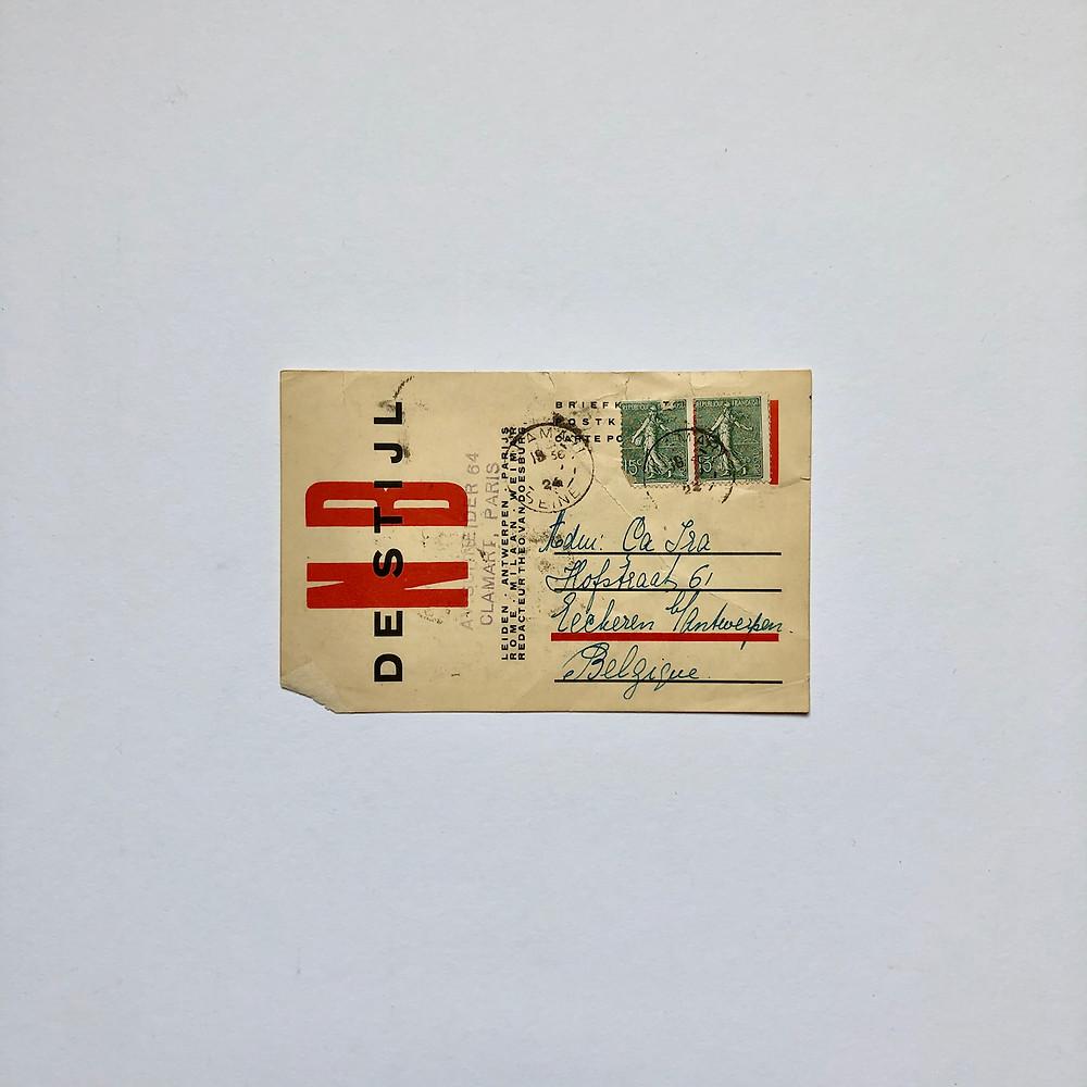 Briefkaart Theo van Doesburg