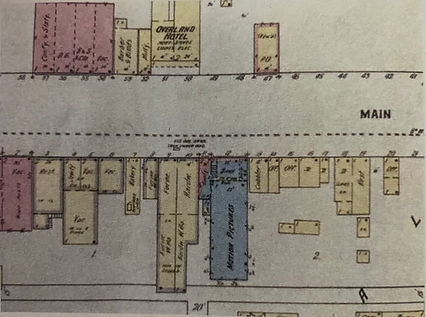 Map of Main Street in Lovell