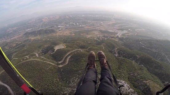Paragliding Training for P2 at Marshal