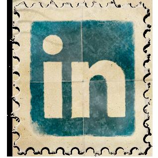 LinkedIn Vintage Stamp
