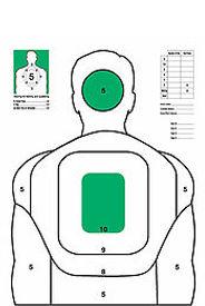 neon targets, pistol targets, paper targets, shooting targets