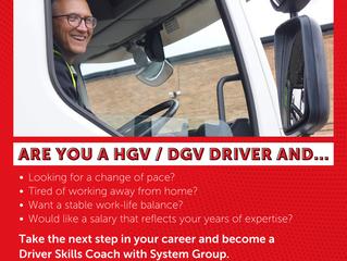 HGV / DGV Driver Skills Coach Wanted