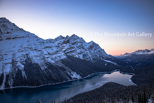 A Peyto Lake Sunset