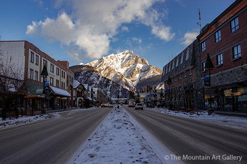 Sunrise on Banff Avenue