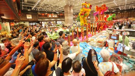 Hong Kong Market Lion Dance Event 香港街市舞獅表演活動