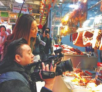 Hong Kong Market Media Shooting (TVB - Bazaar Carnivals)   香港街市傳媒拍攝(TVB- 街市遊樂團)